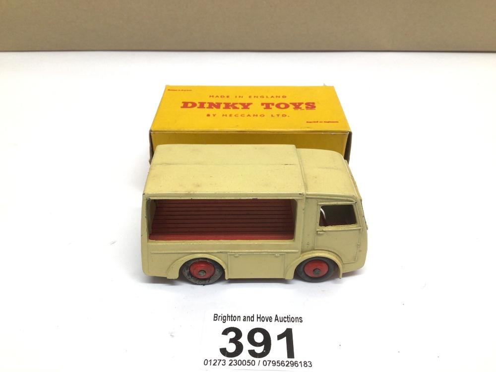 A BOXED DIE-CAST DINKY 491 ELECTRIC DAIRY VAN (N.C.B)