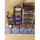 A COLLECTION OF MIXED DIE-CAST SCALE MODEL VEHICLES AND AIRCRAFT, IN BOXES, INCLUDES BRUMM, PROGETTO