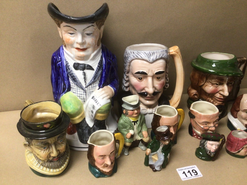 A QUANTITY OF MIXED TOBY JUGS, INCLUDES MUSICAL - Image 3 of 6