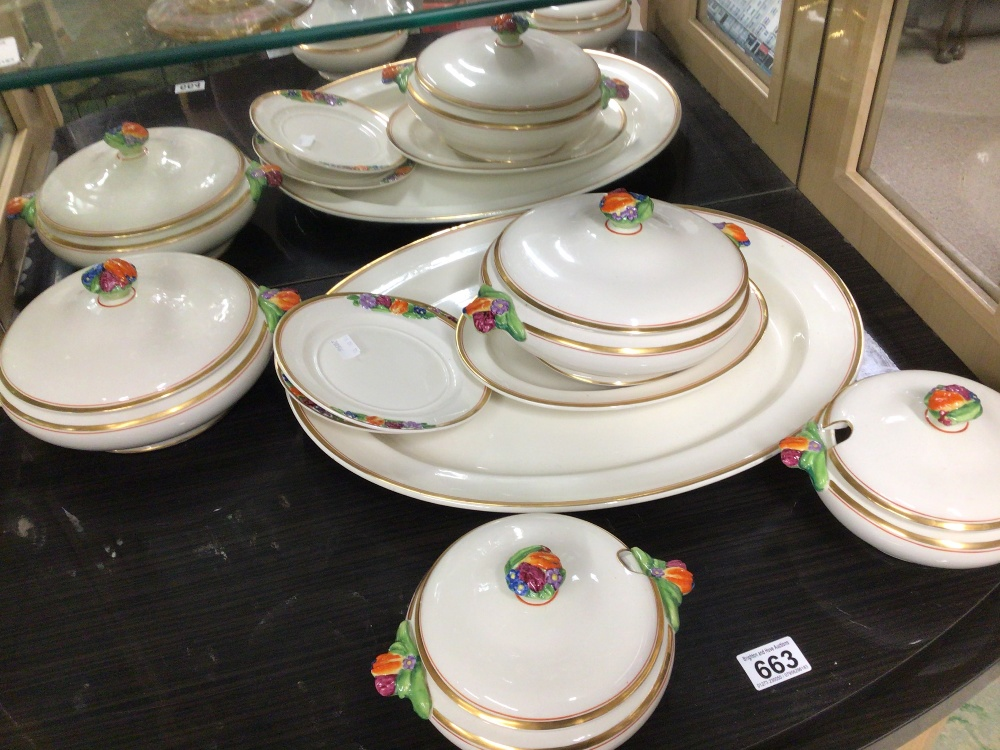 BOOTHS CHINA PART DINNER SERVICE (EMBOSSED FRUIT) EIGHT PIECES - Image 4 of 6