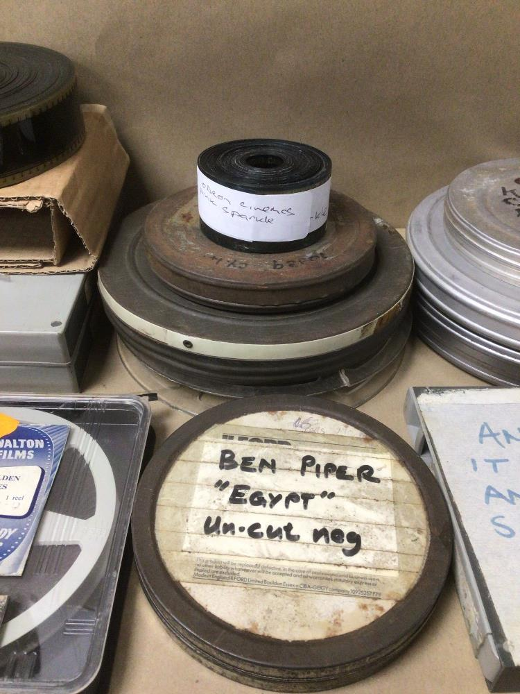 A QUANTITY OF VINTAGE FILM REELS, WALTON FILMS, LAUREL AND HARDY, ANGLESEY COAST AND COUNTRYSIDE, - Image 3 of 5