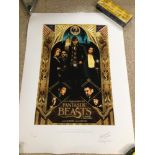 """A LIMITED EDITION MINALIMA """"SPECIAL RELEASE POSTER II"""" OF FANTASTIC BEASTS AND WHERE TO FIND THEM,"""