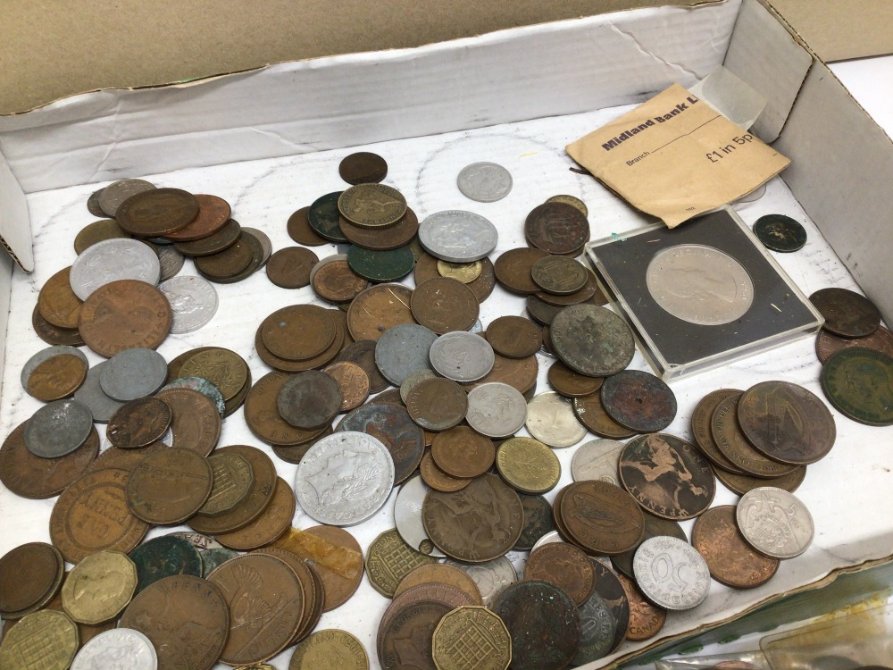 A QUANTITY OF USED COINAGE, FOREIGN AND ENGLISH - Image 5 of 5