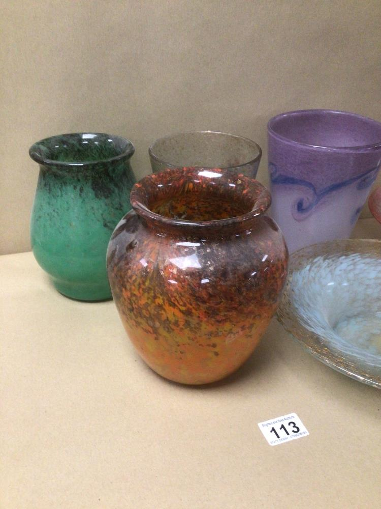 SIX PIECES OF VASART GLASS ITEMS - Image 4 of 4