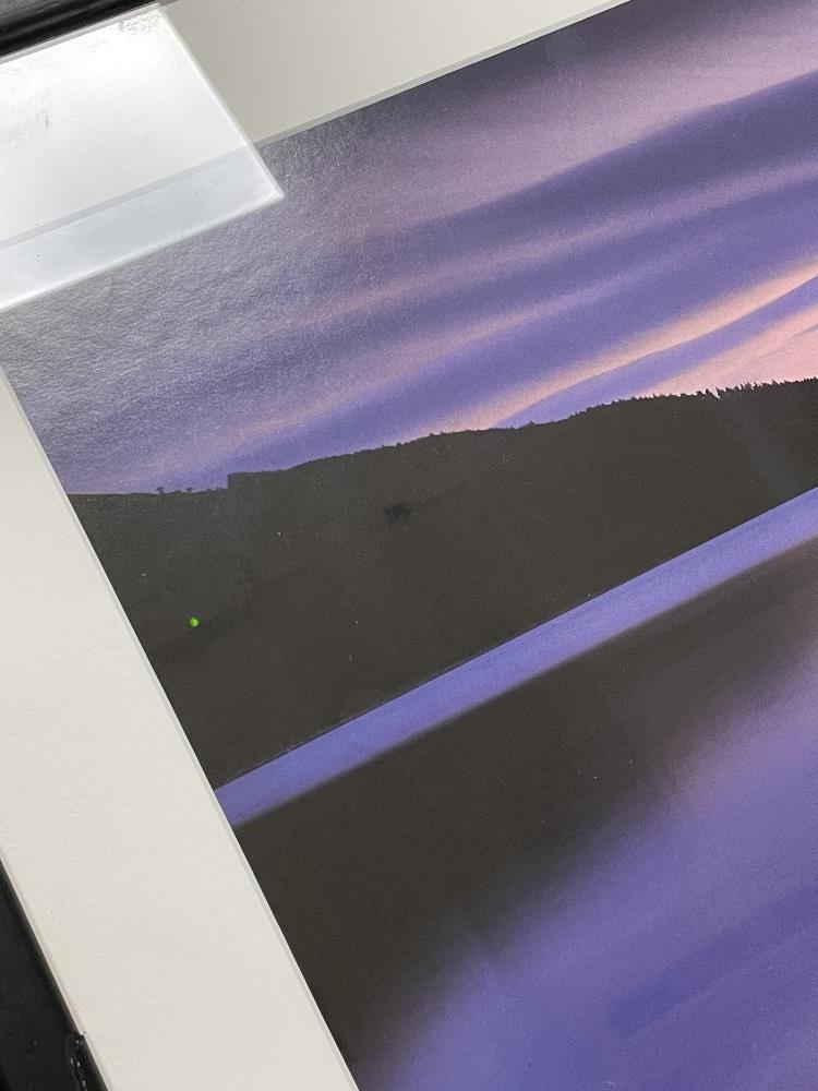 DAVID NOTON, TITLED SCOTTISH HIGHLANDS, LOCH RANNOCK AT DUSK PHOTOGRAPH FRAMED AND GLAZED, 108 X - Image 5 of 8