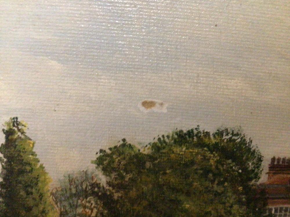 V.H.SEACROFT, FRAMED OIL ON BOARD TITLED CRICKET AT BRAY 71 X 46CM - Image 4 of 5