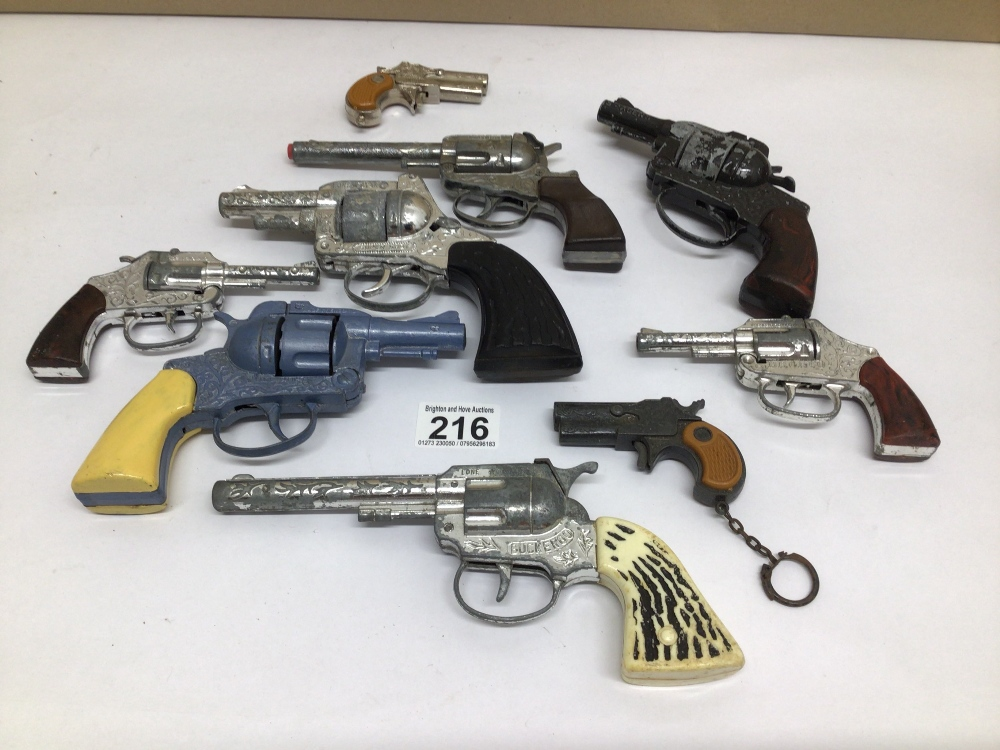 VINTAGE DIE-CAST TOY CAP GUNS, LONE STAR, CRESCENT VICTORY & GONHER SEVERAL A/F