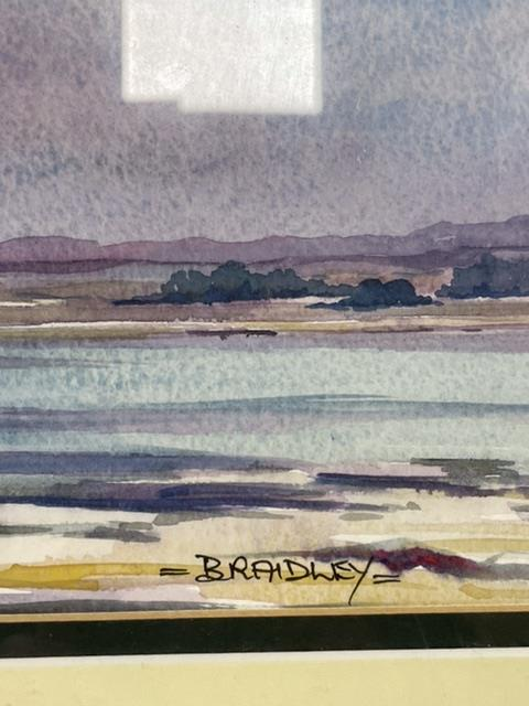 BRADLEY TWO SIGNED FRAMED AND GLAZED WATERCOLOURS BY LOCAL ARTIST, (BRIGHTON PIER AND AFTER THE - Image 3 of 10