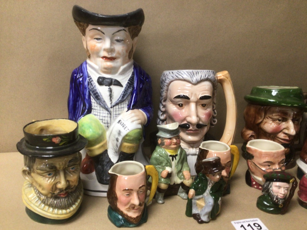 A QUANTITY OF MIXED TOBY JUGS, INCLUDES MUSICAL - Image 4 of 6