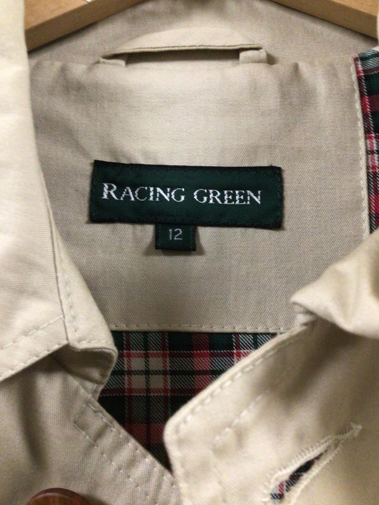 A RACING GREEN SIZE 12 CREAM COAT - Image 3 of 3