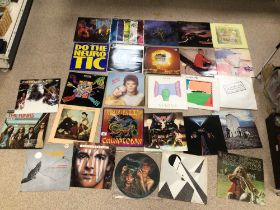 A QUANTITY OF ALBUMS/VINYL/ BOWIE, JOPLIN, HAWKWIND, FRAMPTON, HOWLING WOLF, AND MORE