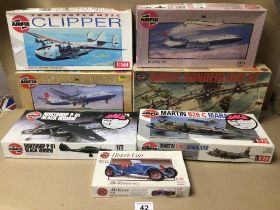 AIRFIX MODELS SOME SEALED SOME NOT (ALL NOT CHECKED) AIRCRAFT AND A 1933 ALFA ROMEO