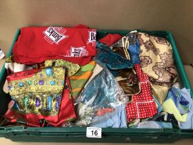 A LARGE QUANTITY OF SILK AND POLYESTER SCARFS, JANE SHILTON AND MORE