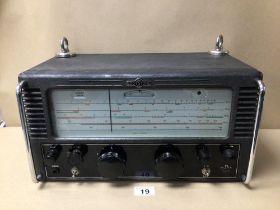 A 1950'S RADIO/RECEIVER BY EDDYSTONE MODEL 840A IN BLACK METAL CASING
