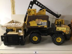 TWO VINTAGE DIE-CAST TONKA TOYS A/F