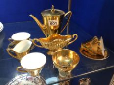 J.LELTMANN BRAVARIA GOLD COFFEE SERVICE PART TEN PIECES
