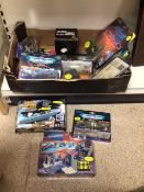A QUANTITY OF BOXED STAR TREK TOYS, STAR FLEET PHASER MICRO MACHINES, MODELS, AND MORE