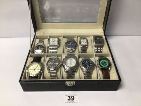 A MIXED CASE OF GENTLEMANS WATCHES