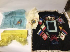 MIXED WWI EMBROIDERY