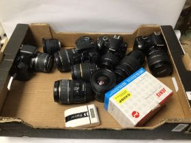 MIXED CAMERAS AND LENS, CANON EOS REBEL XSI, EOI 400D, AND MORE
