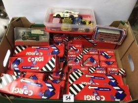 BOXED CORGI DIE-CAST TOYS, TRUCKS AND MORE, BUSES AND MORE