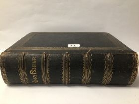 A VICTORIAN FAMILY BIBLE WITH ILLUSTRATIONS BY A FULLERTON AND CO