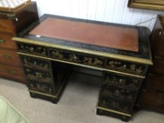 BLACK LACQUERED CHINOSIERE WRITING DESK