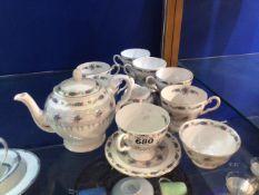 TEN PIECE TUSCAN CHINA TEA SET WITH TEAPOT (HONITON)