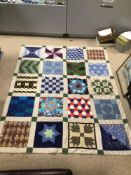 QUILTED BEDSPREAD PATCHWORK, 59 X 72CM