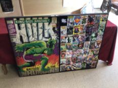 TWO D. C. MARVEL COMIC POSTERS, 93 X 63CM