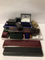 MIXED VINTAGE JEWELLERY BOXES