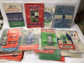 MIXED FOOTBALL PROGRAMMES, WEMBLEY 1954,1964 AND MORE
