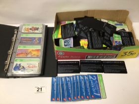 A QUANTITY OF VINTAGE COLLECTABLE PHONE CARDS, WALT DISNEY AND MORE