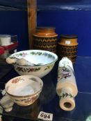 ROYAL WORCESTER HERBS BOWL, AND SPOONS WITH OTHER CHINA