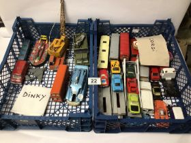 A QUANTITY OF PLAY WORN, DINKY AND CORGI TOY CARS
