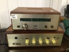 ROGERS, RAVENSBROOK STEREO TUNER AND ROGERS RAVENSBROOK AMPLIFIER
