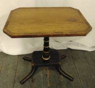 A Regency style rectangular side table on four outswept legs, 51 x 46 x 23cm