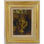 Patrick William Adams framed oil on panel titled The Old Globe, signed bottom right, gallery label