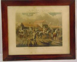 A set of four framed and glazed coloured engravings by J. Harris after Henry Alken for the First