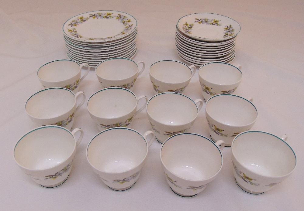 Shelley teaset for twelve place setting to include plates, cups and saucers (36)