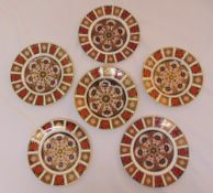 Royal Crown Derby Old Imari pattern plates and bowl, marks to the base (6)