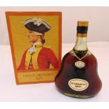 Cognac Hennessy X.O. in fitted presentation packaging 70% proof, 1970 bottling