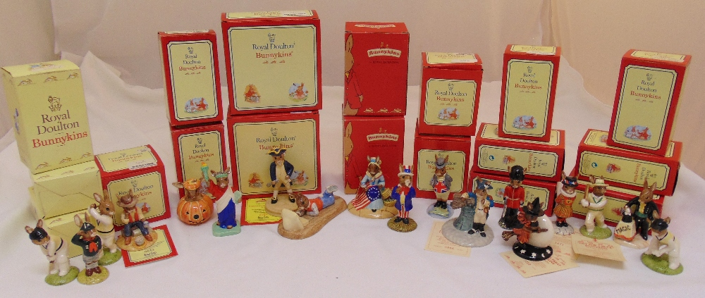 A quantity of Royal Doulton Bunnykins figurines all in original packaging (18)