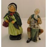 Two Royal Doulton figurine Sairey Gamp HN2100 and The Tinsmith HN2146, tallest 19cm (h)