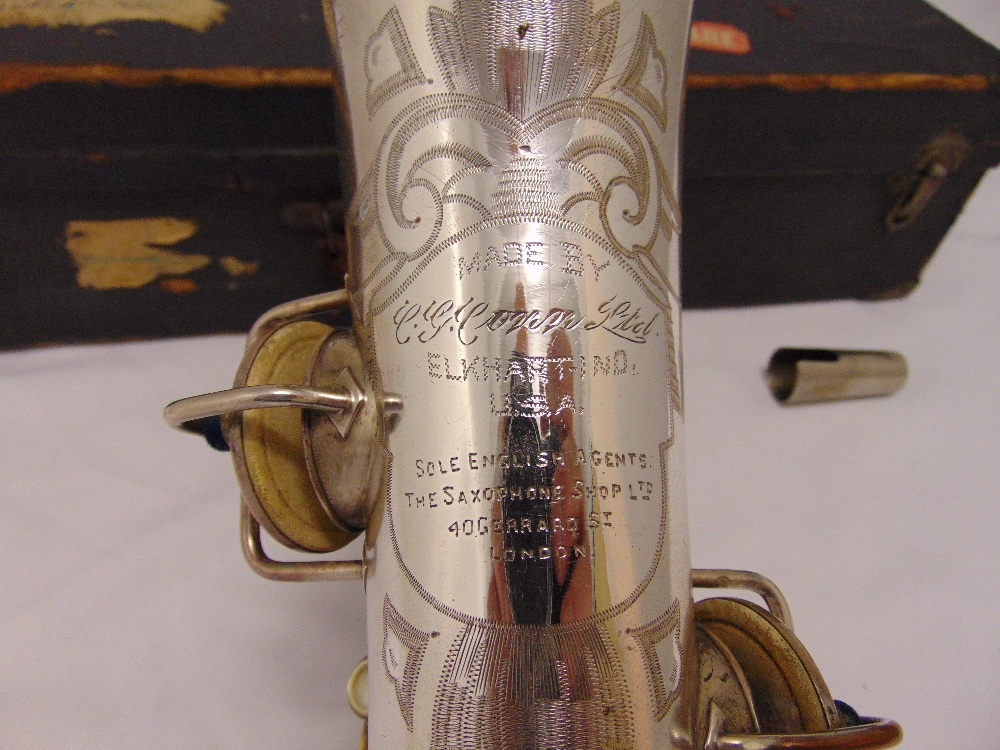 G.C. Conn Ltd Alton saxophone in fitted case Elkhart, Ind. USA. Sole English agents The Saxophone - Image 2 of 4