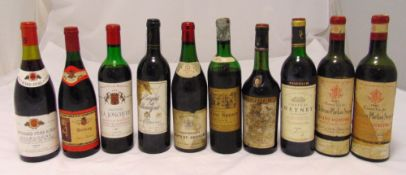 A quantity of red wine to include two 1961 Chateau Phelan Segur Saint Estephe, Chateau Meyney St