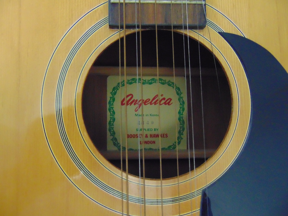 Boosey and Hawkes Angelica twelve string acoustic guitar in fitted case, A/F - Image 2 of 2