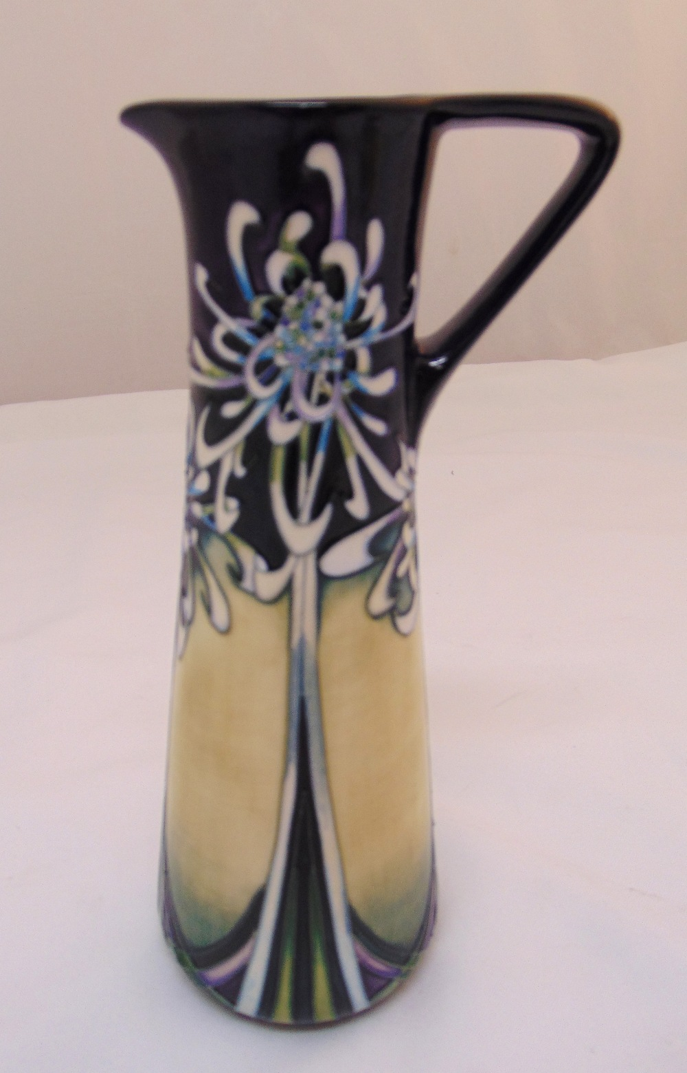 Moorcroft Art Nouveau style ewer made for Gold Members Club, signed to the base, 23.5cm (h)