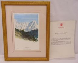 Prince Charles limited edition framed and glazed polychromatic lithographic print titled Annapurna