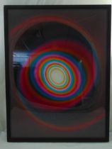 Rob and Nick Carter framed and glazed Colour Changing Spiral cibachrome print. 80 x 60cm